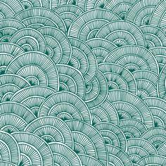 Swirls #Green by Flo Thomas #geometrique #color