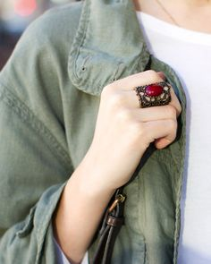 Red Haute Ring - JewelMint