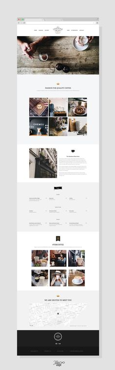 The Handsome Bean Website Design | Forth and Wild Studio (Top View)