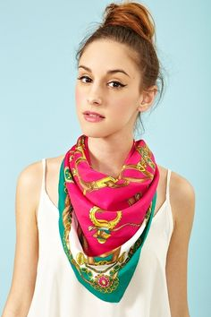 Silk scarf. so chic <3 Nautical Neon Scarf