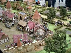 Thriving scene of battle. Battlements and foliage are fantastic!