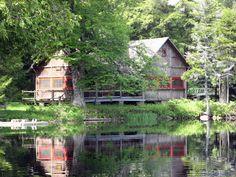 Gloria Vanderbilt's Adirondack camp, Sagamore.