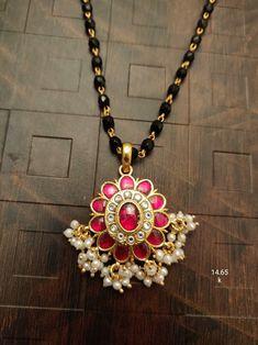 Pendant Jewelry, Beaded Jewelry, Beaded Necklace, Gold Necklace, Gold Pendent, Gold Jewellery Design, Trendy Jewelry, Black Crystals, Antique Jewelry