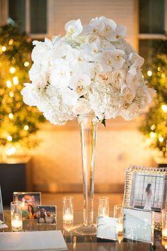 Photo: Sarah Kate Photography; Gorgeous ballroom wedding centerpiece