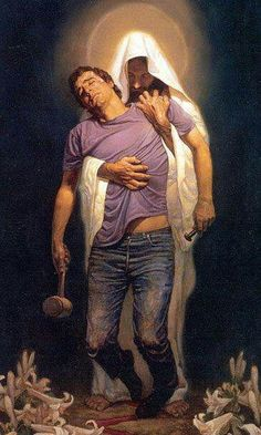 Jesus did not want to use any force other than the power of love to conquer the wickedness of his human brothers. Jesus proved his divinity by acting like a god, not like a man. Paramahansa Yogananda, The Second Coming of Christ, Discourse 73 Image Jesus, Thomas Blackshear, Jesus Christus, Saint Esprit, Prophetic Art, Biblical Art, Jesus Pictures, Wierd Pictures, Jesus Pics