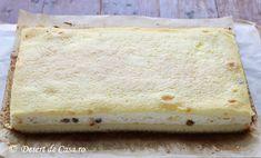 prajitura cu branza dulce si stafide (3) Yami Yami, Vanilla Cake, Cheesecake, Desserts, Food, Babydoll Sheep, Tailgate Desserts, Deserts, Meal