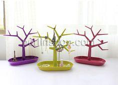 PVC Kunststoff Multizweck Schmuckständer, Baum, Spritzlackierung, gemischte Farben, 24x12.50x28mm