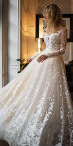 Wedding Dress Long Sleeve Wedding Gown Boho Mother Of The Bride Dresses Sparkly Bridesmaid Dresses Couture Wedding Dresses – grizzlehair Wedding Gowns With Sleeves, Top Wedding Dresses, Wedding Dress Trends, Long Sleeve Wedding, Gown Wedding, Dream Wedding, Modest Wedding, Tulle Wedding, Mermaid Wedding