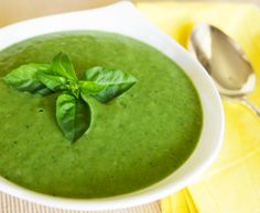 Chilled Cucumber Basil Avocado Soup