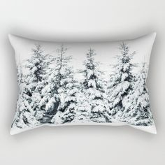 Trees , snow , pillow
