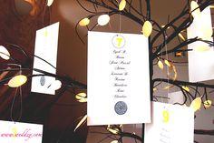 Un plan de table en arbre lumineux très original