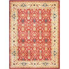 Safavieh Austin Red/Creme 8 ft. x 11 ft. Area Rug - AUS1620-4011-8 - The Home Depot
