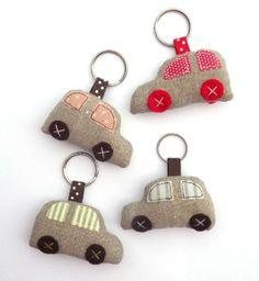 Keychains – Cute car keychain - zakka style – a unique product by countrykitty on DaWanda