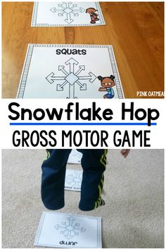 Snowflake Hop - Winter Gross Motor Game