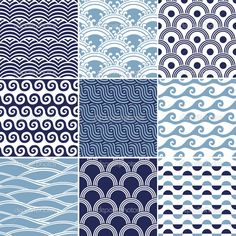 Ocean Pattern Seamless ocean wave pattern                                                                                                                                                                                 More