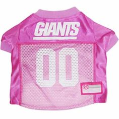 Girly dogs it's here. Officially licensed NFL pink jersey!