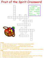 kids bible worksheets free printable fruit of the spirit crossword puzzle bible pinterest. Black Bedroom Furniture Sets. Home Design Ideas