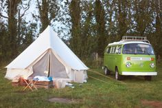 Canvas Bell Tent - couldn't be too hard! Via: JUNKAHOLIQUE: a weekend in the country