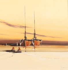 Evening Sunset I by John Horsewell - Original artwork available at Love Art Gallery