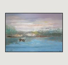 Early morning from Aidacontemporaryart gallery is beautiful impressionist landscape painting Measuring 24x36 inches. This painting is part of