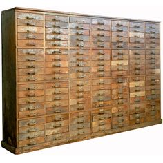 1800s Wall of Draws | From a unique collection of antique and modern apothecary cabinets at https://www.1stdibs.com/furniture/storage-case-pieces/apothecary-cabinets/