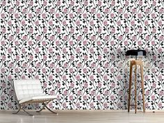 Design #Tapete Schneewittchens Rosen Filigranes Design, Cottage, Rugs, Home Decor, Self Adhesive Wallpaper, Snow White Pictures, Fence, Wall Papers, Monochrome