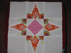 Fabulous star  The use of fussy cut on this is great!