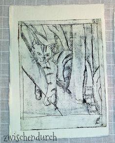 Zwischendurch: Advent Mail Art: im Jahr der Katze (making of) Tetra Pak, Printmaking, Advent, Stamping, Prints, Art, Woodblock Print, Random Stuff, Printing
