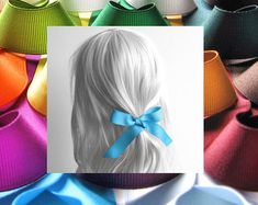 Check out our ribbon hair ties selection for the very best in unique or custom, handmade pieces from our shops. Ribbon Hair Ties, Hair Ribbons, Hair Bows, Natural Shapes, Bad Hair Day, Durham, Grosgrain Ribbon, Girl Hairstyles, Hair Accessories
