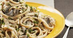 This vegan stroganoff is a classic dinner favorite, packed with flavor, and garnished with fresh parsley. There's even a recipe for homemade tofu sour cream.
