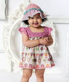 This Pink By the Seashore Bubble Romper & Knit Bonnet - Infant is perfect! #zulilyfinds