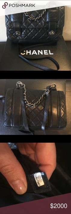 Authentic Lambskin Chanel Crossbody Purse Good preowned condition. Will come as pictured. Great everyday bag. 12L x 3W x 8H. CHANEL Bags Crossbody Bags