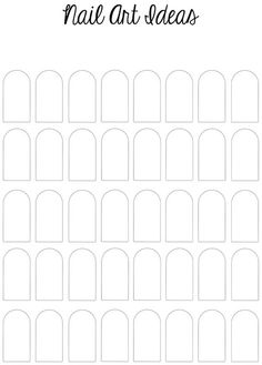 Printable Nail Art Template by Samarium's Swatches, via Flickr