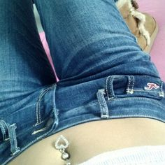 Belly button ring in sexy vacation