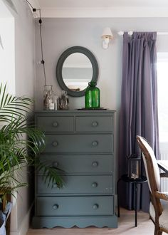 The chest was an antique shop buy, which Kay painted.