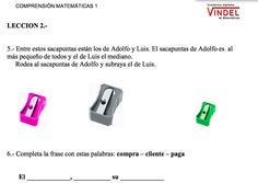Comprensión a patir de enuncidos de matemàticas. Cuadernos digitales Vindel. Textbook, Usb Flash Drive, Spanish, 1, Website, School, Reading Comprehension, Initials, Activities