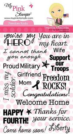 My Pink Stamper Freedom Rocks Stamp Set