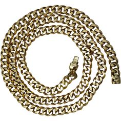 A Rare 1938 Cartier Heavy Yellow Gold Link Chain