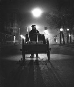 """Milano`s worker early morning"" 1953, photo by Italian photographer UGO MULAS (1928/1973)"
