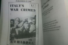 'Italy's war-crimes in Ethiopia: Evidence for the War Crimes Commission' was originally published by Sylvia Pankhurst's New Times and Ethiopia News in April 1945.   Sylvia Pankhurst, who had been publishing the weekly New Times and Ethiopia News since 1936 in order to maintain international awareness of the situation within the country, acquired a file of photographs of Italian atrocities that had been taken by the Italian themselves. The pictures had been found i the Ethiopian capital…