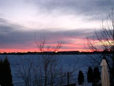 The Sunset is saying good night to everyone..one of the beautiful skies you will see in Manitoba in February