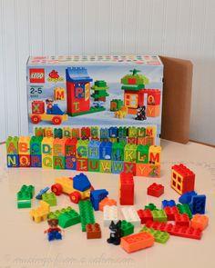 Lego Duplo. We love the alphabet set!