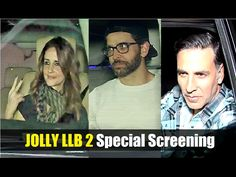 JOLLY LLB 2 Special Screening | Hrithik Roshan, Akshay Kumar.  Click here to see the full video > https://youtu.be/7afU-k7SrYk  #jollyllb2 #hrithikroshan #akshaykumar #bollywood #bollywoodnews #bollywoodnewsvilla