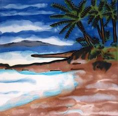 Our Palm Island tile is wonderful as an addition to your home decor. It also makes a beautiful gift. Decorative Wall Tiles, Ceramic Wall Art, Ceramic Decor, Tile Art, Palm Tree Island, Palm Trees, Ceramics, Painting, Beautiful