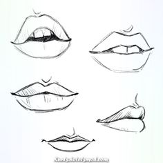 Need some drawing inspiration Well youve come to the right place Heres a list of over 20 amazing lip drawing ideas and inspiration. Why not check out this Art Drawing Set Artist Sketch Kit perfect for practising your art skills. Cool Art Drawings, Pencil Art Drawings, Art Drawings Sketches, Sketch Art, Easy Drawings, Pencil Sketch Drawing, Lips Sketch, Drawings Of Lips, Art Illustrations