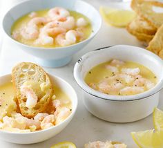 James Martin's classic seafood starter is best made the day before and left in the fridge overnight - perfect for a special Sunday lunch Smoked Salmon Pate, Smoked Shrimp, Shrimp Recipes, Fish Recipes, Gourmet Recipes, I Love Food, A Food, Potted Shrimp, Bbc Good Food Recipes