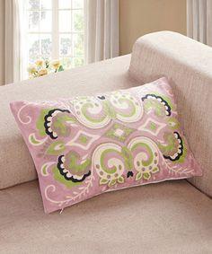 Look at this #zulilyfind! Pink Embroidered Damask Throw Pillow by Calla Angel #zulilyfinds