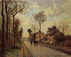 The Louveciennes Road - Camille Pissarro