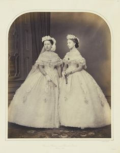Princess Helena left and Princess Louise of the UK, daughters of Queen Victoria and Prince Albert Queen Victoria Children, Queen Victoria Family, Queen Victoria Prince Albert, Victoria And Albert, Princess Louise, Princess Alice, Prince And Princess, Windsor, Victoria's Children