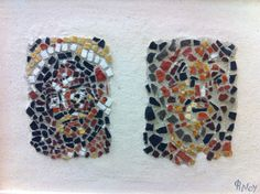 Study on two faces from Delos (house of the  masks) mosaics from  Eftychia Finou